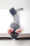 Knitted mouse Royalty Free Stock Photography