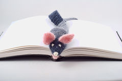 Knitted mouse Stock Photo