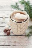 Knitted mug of coffee Stock Photo