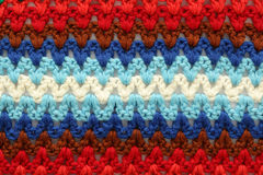 Knitted multicolored texture Stock Photos