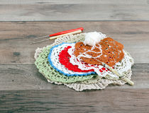 Knitted napkins Royalty Free Stock Photography