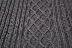 Knitted natural wool texture background Royalty Free Stock Photos