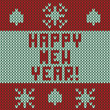Knitted New Year pattern Royalty Free Stock Images