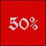 Knitted number fifty percent Stock Photos
