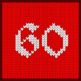 Knitted number sixty royalty free illustration