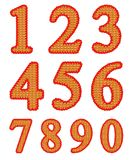 Knitted numeral set Stock Photography