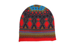 Knitted ornament hat Stock Images