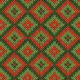 Knitted ornamental seamless pattern Stock Photo