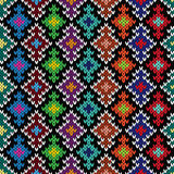 Knitted ornate seamless pattern Royalty Free Stock Image