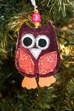 Knitted owl decoration Royalty Free Stock Images