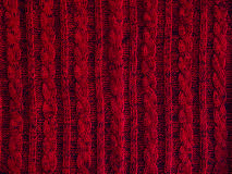 Knitted pattern background, part of red sweater Stock Photos