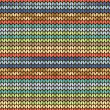 Knitted pattern blue green yellow Stock Image