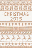 Knitted pattern: christmas 2015 Stock Images