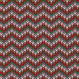 Knitted pattern, Christmas theme Stock Image