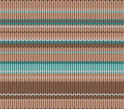 Knitted pattern, vector  Stock Photography