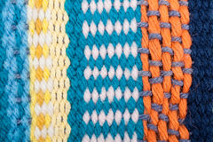 Knitted Pattern Crafting Texture background Royalty Free Stock Images