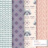 Knitted pattern vector illustration