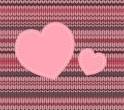 Knitted pattern and heart, vector  Royalty Free Stock Photography