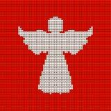 Knitted pattern, heavenly angel. Christmas. stock illustration