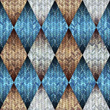 Knitted pattern with the melange effect. Royalty Free Stock Images