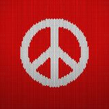 Knitted pattern peace Stock Image