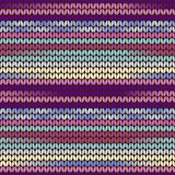 Knitted pattern purple Royalty Free Stock Photos