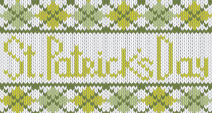 Knitted pattern with rhombus for St. Patricks Day Royalty Free Stock Photos
