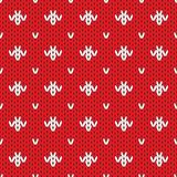 Knitted pattern seamless background. Vector Royalty Free Stock Images