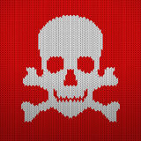 Knitted pattern skull Stock Photos