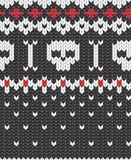Knitted pattern with skulls. Seamless knitted pattern for winter clothing. EPS 10 vector illustration vector illustration