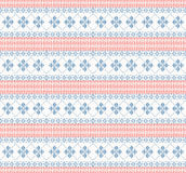 Knitted pattern with swirl and star. Illustration Royalty Free Stock Photo