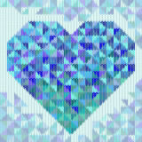 Knitted pattern with triangle heart Royalty Free Stock Photos