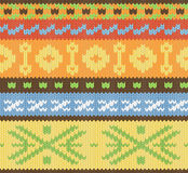 Knitted pattern vector Stock Images