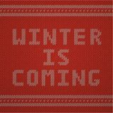 Knitted Pattern. Winter is Coming Stock Photos