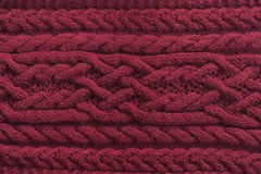 Knitted pattern from wool Stock Photography