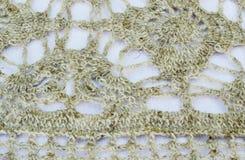 Knitted pattern of woolen yarn. Knitted pattern of fine woolen yarn Stock Photo