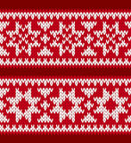 Knitted patterns with nordic stars Stock Photo