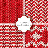 Knitted patterns Royalty Free Stock Photo
