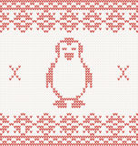 Knitted penguin Royalty Free Stock Images