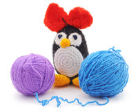 Knitted penguin. Royalty Free Stock Photos