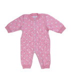 Knitted pink rompers. Royalty Free Stock Images