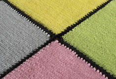 Knitted plaid close up Stock Photos
