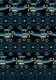 Knitted plane design. Vector illustration of a knitted vintage aircraft repeat pattern Royalty Free Stock Photo
