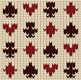 Knitted poker pattern, vector illustration Royalty Free Stock Photo
