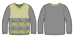 Knitted pullover with pattern Stock Photo