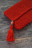 Knitted purse Royalty Free Stock Photo