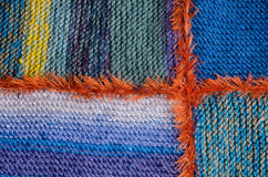 Knitted quilt detail Royalty Free Stock Images