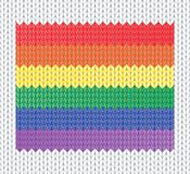 Knitted rainbow flag Stock Images
