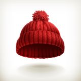 Knitted Red Cap Royalty Free Stock Photos