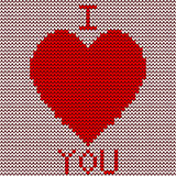 Knitted red heart Royalty Free Stock Photo